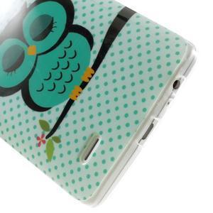 Gélový kryt pre mobil LG G3 - sovička - 5