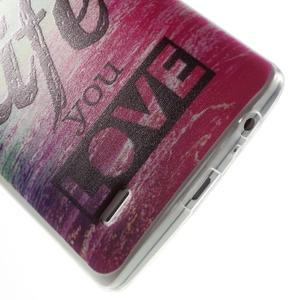 Silks gelový obal na mobil LG G3 - love - 5