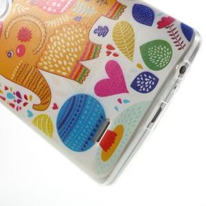 Silks gélový obal pre mobil LG G3 - slon - 5