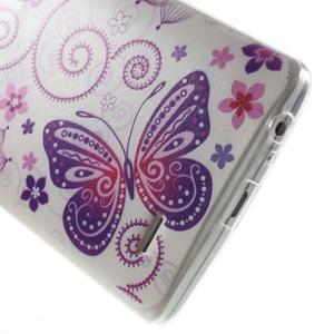 Silks gelový obal na mobil LG G3 - motýlci - 5