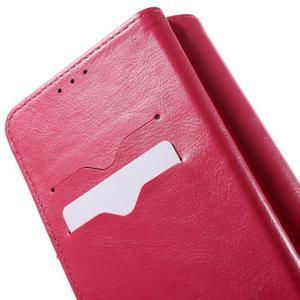 Patrové peňaženkové puzdro pre mobil LG G3 - rose - 5