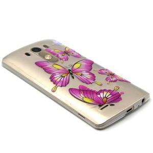 Priehľadný gélový obal pre LG G3 - motýľe - 5