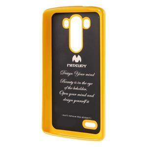 Odolný gelový obal na mobil LG G3 - žlutý - 5
