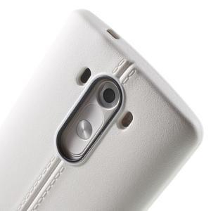 Lines gélový kryt pre mobil LG G3 - biely - 5