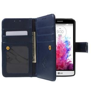 Patrové peněženkové pouzdro na mobil LG G3 - tmavěmodré - 5