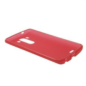Matný gélový obal pre LG G3 - červený - 5