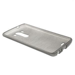 Brush gélový obal pre LG G3 - sivý - 5