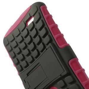Outdoor odolný obal pre mobil LG G3 - rose - 5