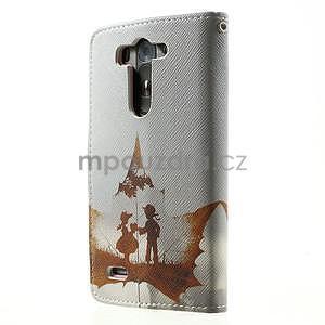 Zapínacie peňaženkové puzdro pre LG G3 s - láska - 5