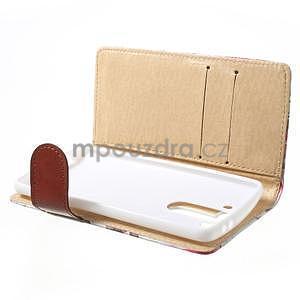 Elegantné lilie peňaženkové puzdro na LG G3 s - biele - 5