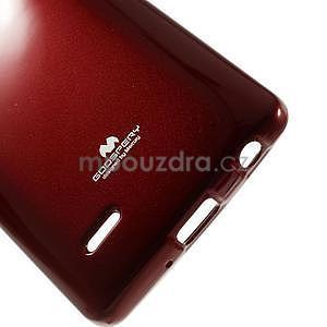 Odolný gélový obal na LG G3 s - tmavě červený - 5