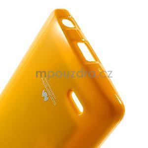 Odolný gélový obal na LG G3 s - oranžový - 5