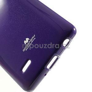 Odolný gélový obal na LG G3 s - fialový - 5
