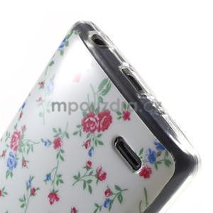 Gélový obal pre LG G3 s - kytičky - 5