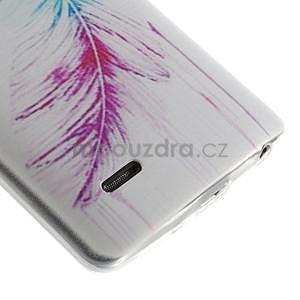 Ultra slim 0.6 mm gélový obal LG G3 s - farebné pírko - 5
