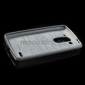 Broušený gélový obal na LG G3 s - šedý - 5