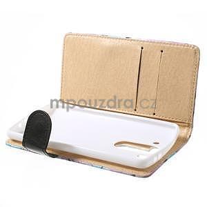 Elegantné lilie peňaženkové puzdro na LG G3 s - fialové - 5