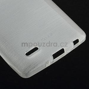 Brúsený gélový obal pre LG G3 s - biely - 5