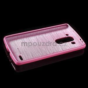 Broušený gélový obal na LG G3 s - rose - 5