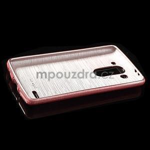 Broušený gélový obal na LG G3 s - růžový - 5