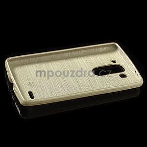 Broušený gélový obal na LG G3 s - zlatý - 5