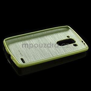 Brúsený gélový obal pre LG G3 s - zelený - 5