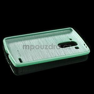 Broušený gélový obal na LG G3 s - azurový - 5