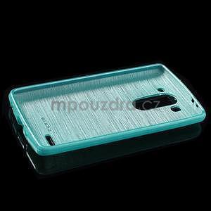 Broušený gélový obal na LG G3 s - tyrkysový - 5