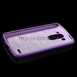 Brúsený gélový obal pre LG G3 s - fialový - 5