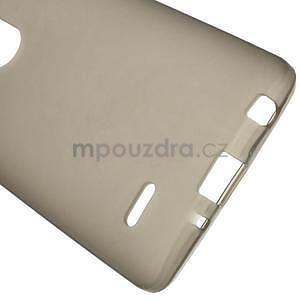 sivý matný gélový kryt LG G3 s - 5