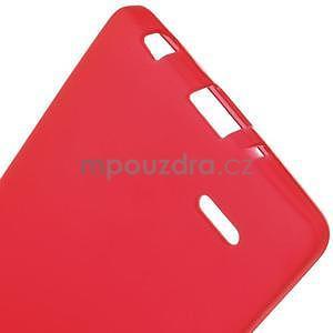 Červený matný gélový kryt LG G3 s - 5