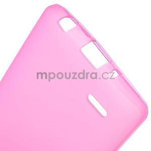 Rose matný gélový kryt LG G3 s - 5