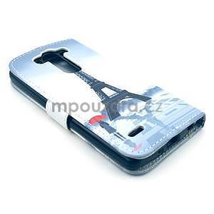 Peňaženkové puzdro na LG G3 s -  Eiffelova veža - 5