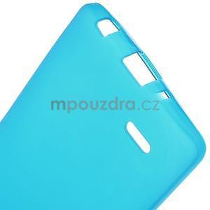 Světle modrý matný gélový kryt LG G3 s - 5