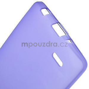 Fialový matný gélový kryt LG G3 s - 5
