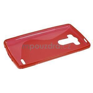 S-line červený gélový obal pre LG G3 s - 5