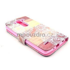 Peňaženkové puzdro na LG G3 s - mandala - 5
