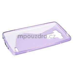 S-line fialový gélový obal pre LG G3 s - 5