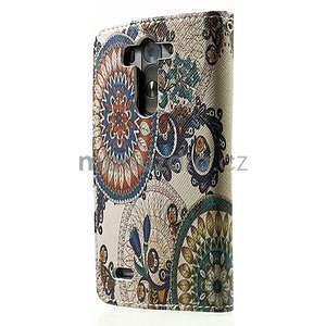 Zapínací peňaženkové puzdro pre LG G3 s - květina mandala - 5