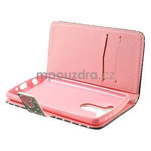 Zapínací peňaženkové puzdro pre LG G3 s - soví rodinka - 5