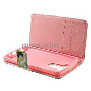 Zapínací peňaženkové puzdro pre LG G3 s - ptáček - 5