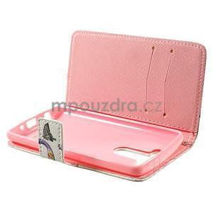 Zapínací peňaženkové puzdro pre LG G3 s - love - 5