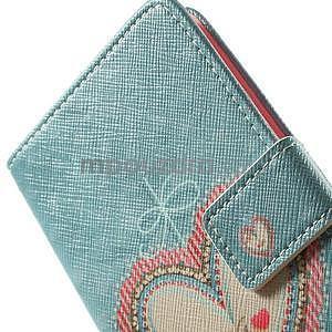 Zapínací peňaženkové puzdro pre LG G3 s - srdce - 5