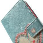 Zapínací peňaženkové puzdro pre LG G3 s - srdce - 5/7
