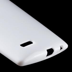 Lesklý gelový obal na LG G4 - bílý - 5