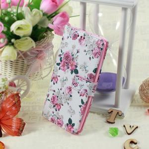 Call peněženkové pouzdro na LG G4 - květiny - 5