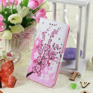 Call peněženkové pouzdro na LG G4 - kvetoucí větvička - 5