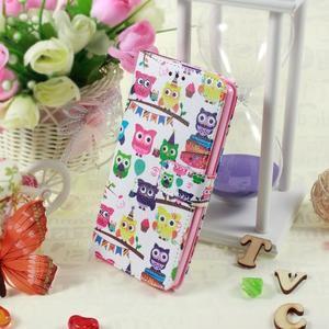 Call peňaženkové puzdro pre LG G4 - malej sovy - 5