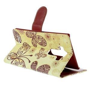 Koženkové puzdro pre mobil LG G4 - motýľe - 5