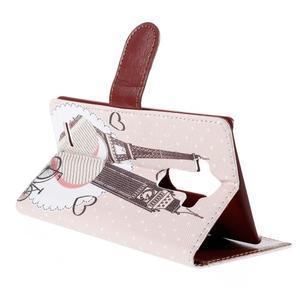 Koženkové puzdro pre mobil LG G4 - Eiffelka a Big Ben - 5